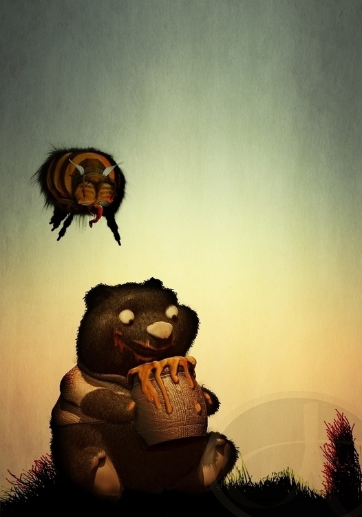 Honey thief - illustration, characterdesign - alext-1188 | ello