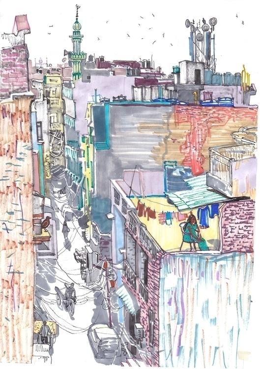 delhi, india, markers, travel - naktisart   ello