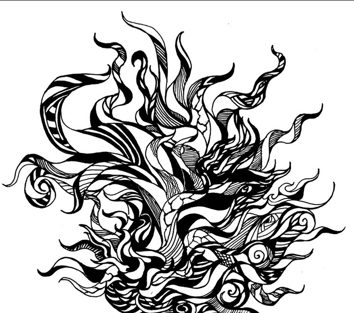 drawing, penink, tentacles, zentangle - kiki-1019 | ello