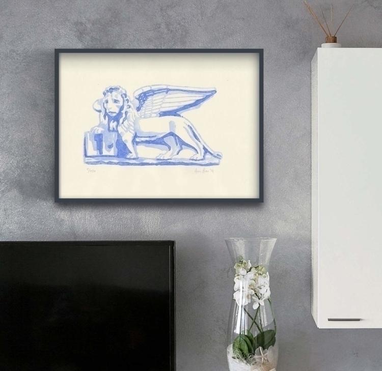 Lion Saint Mark, representing e - ariautas   ello