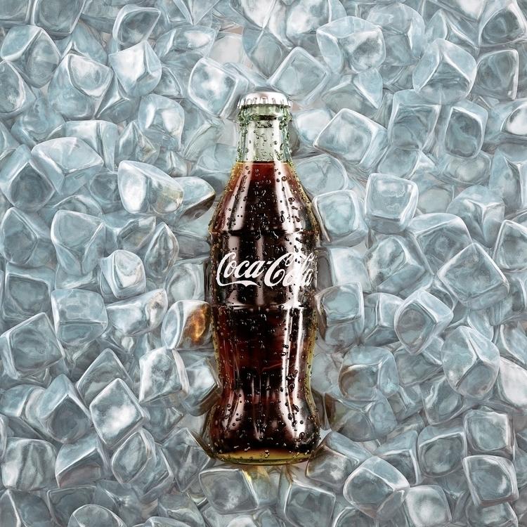 coca-cola, bottle, 3dart - arturtamiola | ello