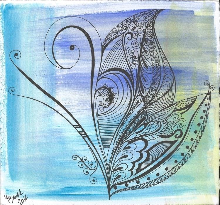 Butterfly - illustration - yezarck | ello