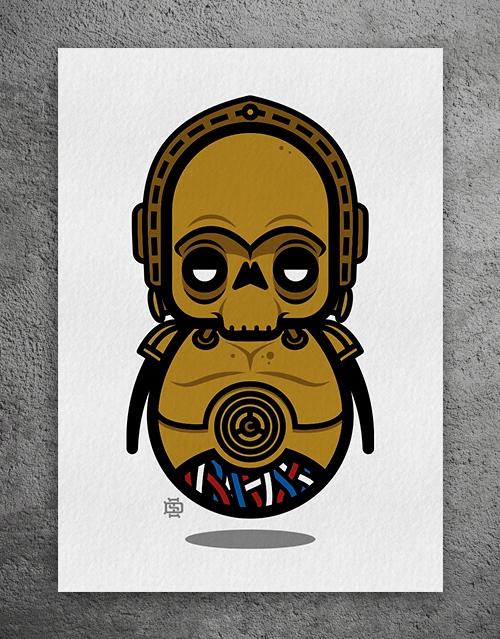 DUDE-3PO LImited Edition Giclee - 6gun | ello