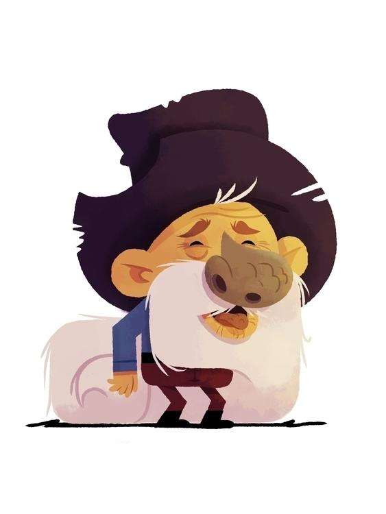 Prospector character - illustration - joshuamenas | ello