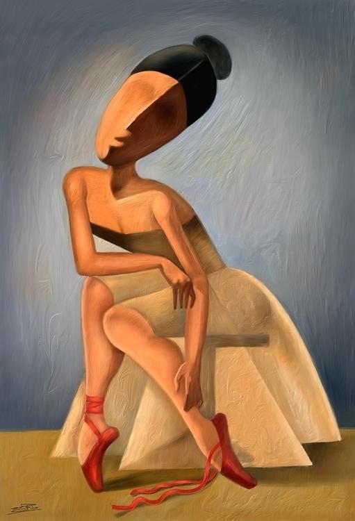 ballerina - Created Corel paint - wael-2795 | ello