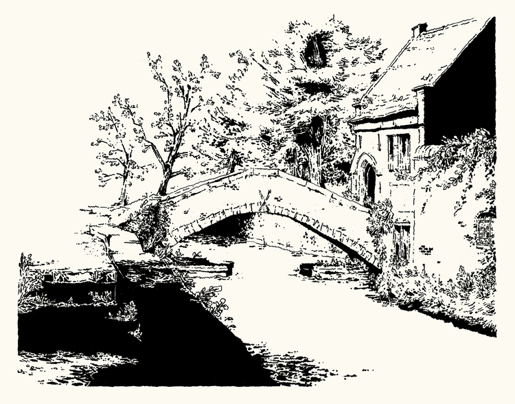 St. Bonifacius bridge - bruges, belgium - gommette | ello