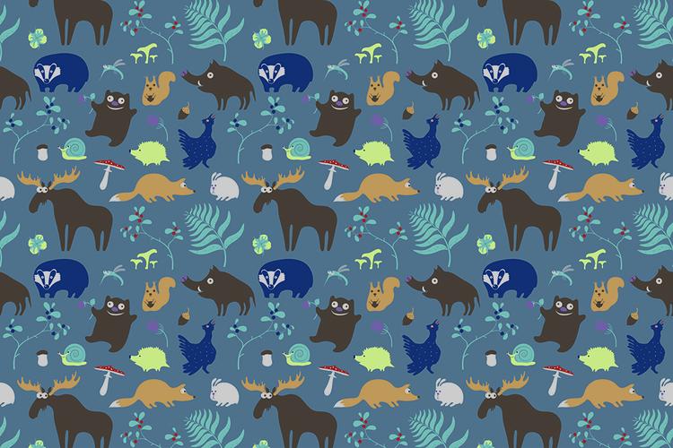 Forest life - illustration, pattern - ololonycolophony | ello