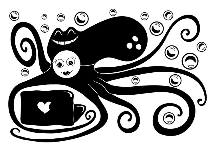 virtual love - illustration, vector - ololonycolophony | ello