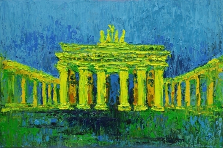 Brandenburg Gate 120x80 Oil can - tanya_vasilenko | ello