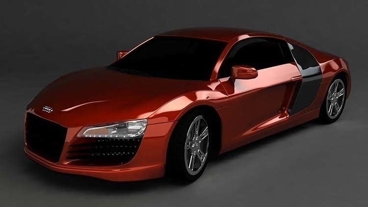 High poly 3D model Audi R8. Per - digigrrl | ello