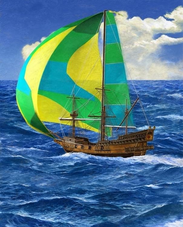 Clipper Yacht - 3DArt, DigitalIllustration - vantage-9372   ello
