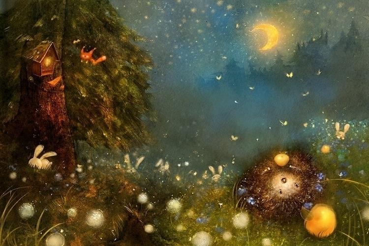 hedgehog - illustration - smokepaint | ello