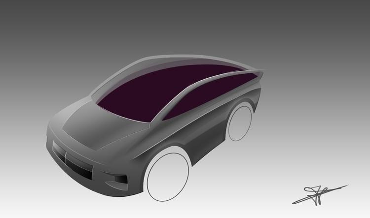 Compact SUV concept. Line sketc - dijkstrajorn | ello