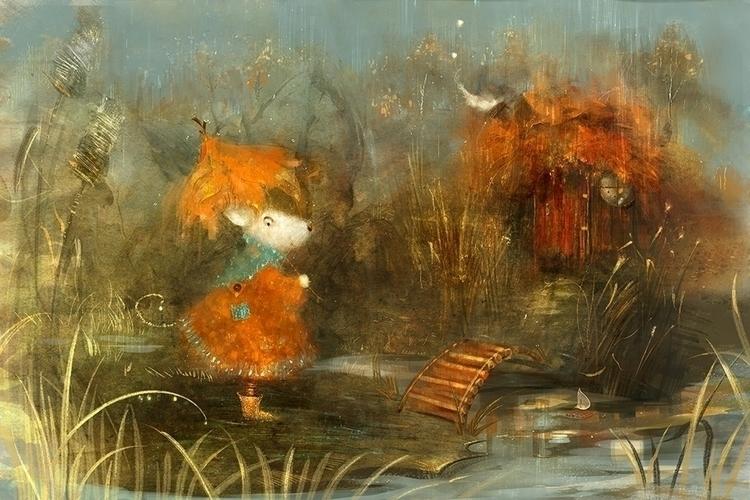 mouse autumn - illustration - smokepaint | ello