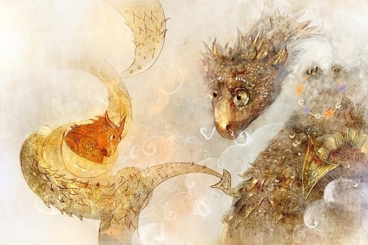 lullaby dragonet.2 - illustration - smokepaint | ello