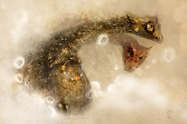 lullaby dragonet - illustration - smokepaint | ello
