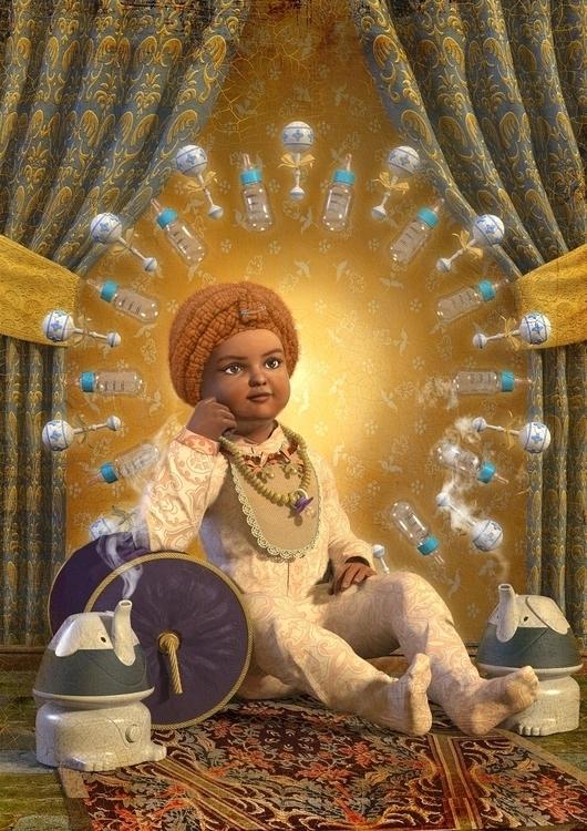 Indian Baby composite - 3DArt, DigitalIllustration - vantage-9372 | ello