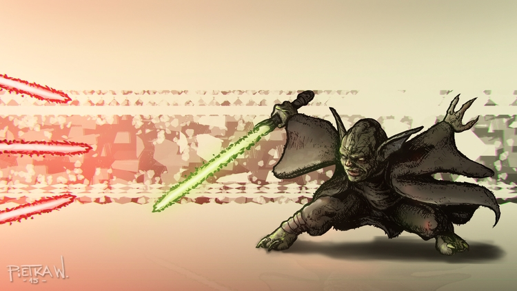 Master Yoda - Star wars - illustration - pietkaw | ello