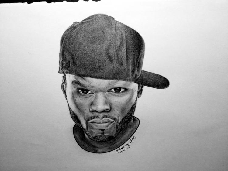 Portrait drawing 50 cent (check - melissacookart | ello
