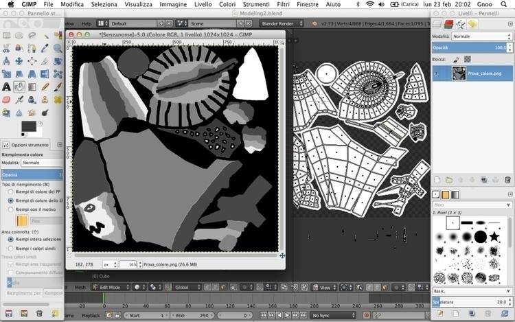Character texture (texture part - h3ml0ck | ello