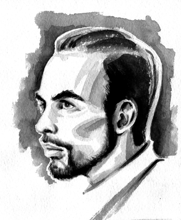 portrait, friends, ink, drawing - annagosteva | ello