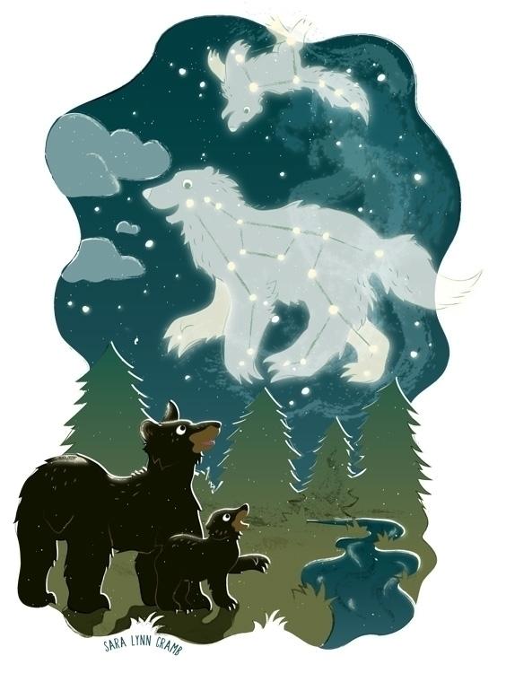 Shine: Bears Earth Sky - scbwiart - saralynncramb | ello