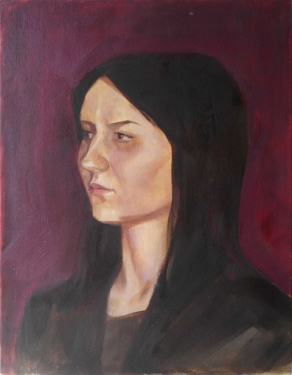 Portrait. Oil canvas - art, oilpainting - 2djanel | ello
