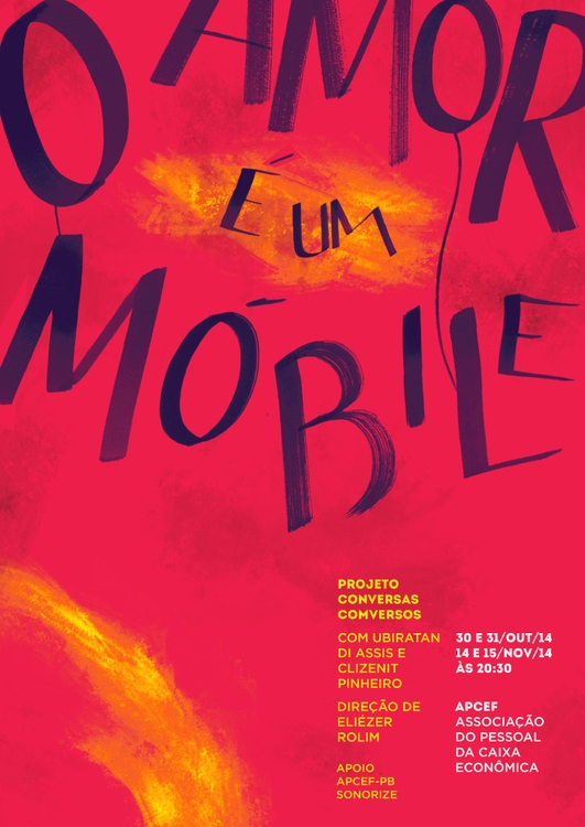 amor é um móbile - theatre, lettering - minnamr | ello