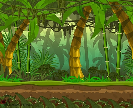 Game location jungle - illustration - stepansmirnow | ello