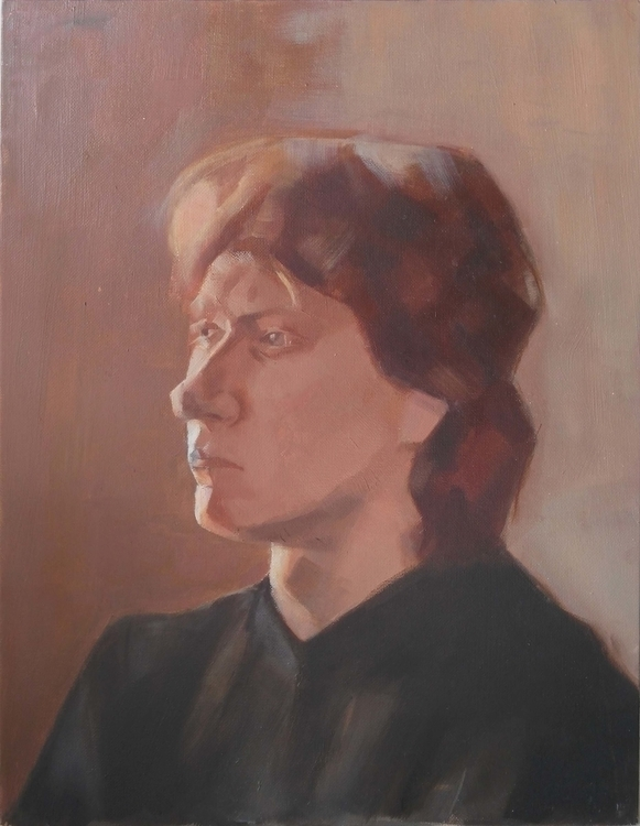 Portrait. Oil canvas - oilpainting - 2djanel | ello