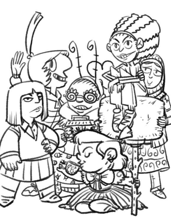 Splinter Cat cabin kids - characterdesign - camperjon | ello