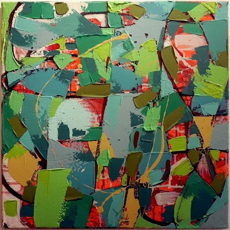 Green Fields - painting - margeirdire | ello