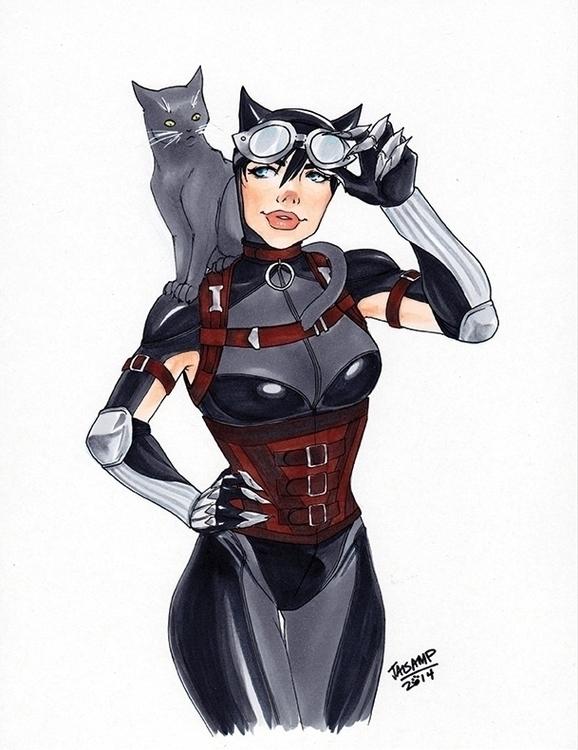Catwoman - drawing, dccomics, dc - jaisamp | ello