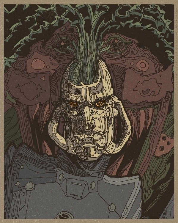 Captain Tree head - illustration - xuanquyen | ello