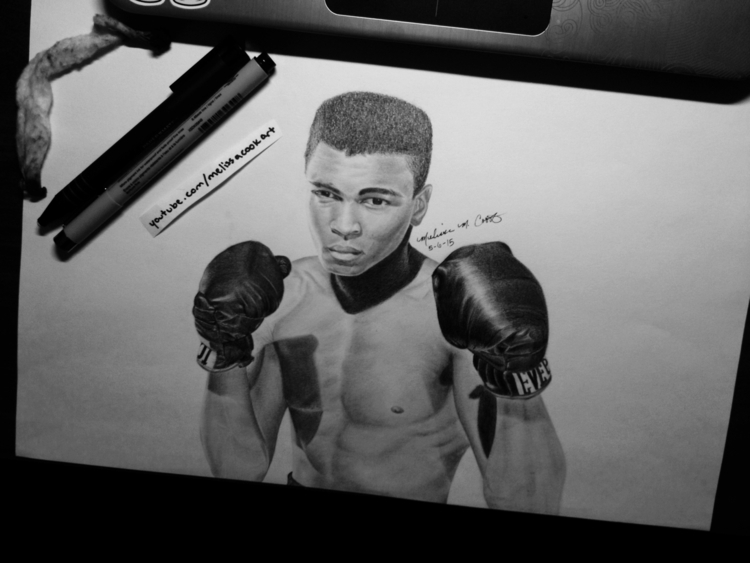 Muhammad Ali (check timelapse d - melissacookart | ello