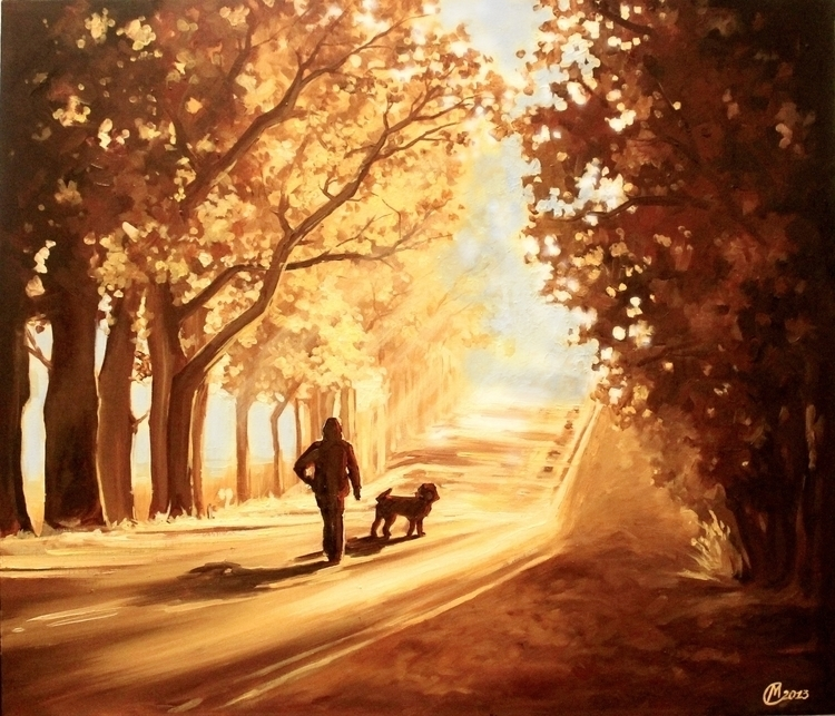 warm morning - painting, sun, sunny - lanamarandina | ello