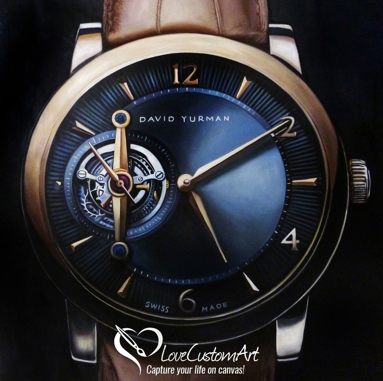 Painting David Yurman Watch - oilpainting - lovecustomart | ello