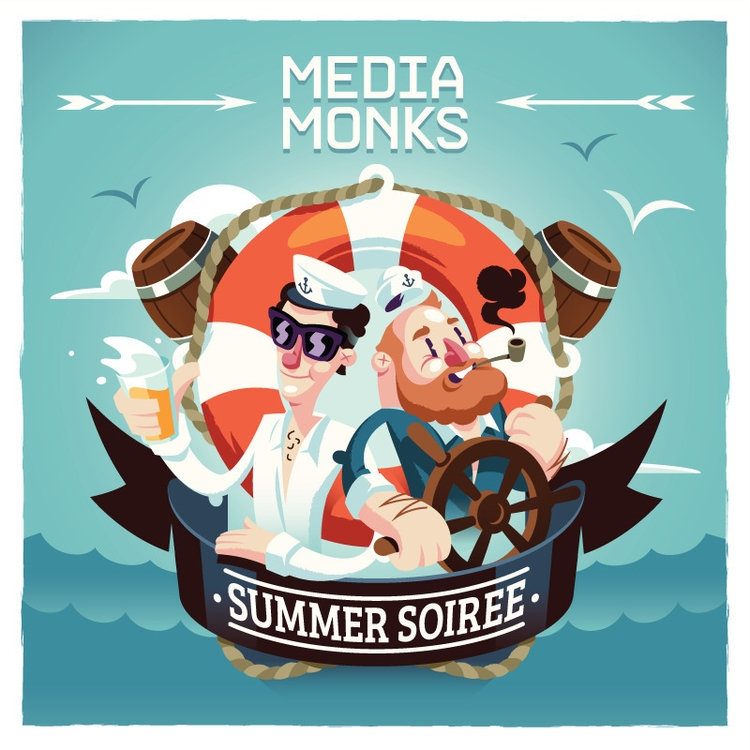 MEDIAMONKS Summer Soiree - illustration - knak-1575 | ello