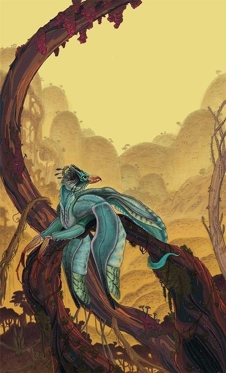 Pauka - illustration, environment - abby_williams | ello