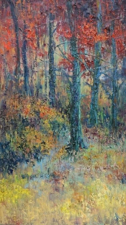 Autumn forest 160x90 Oil canvas - tanya_vasilenko | ello