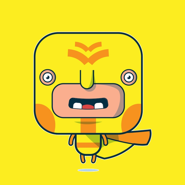 Yellow Hero - hero, illustration - pixelkaiju | ello
