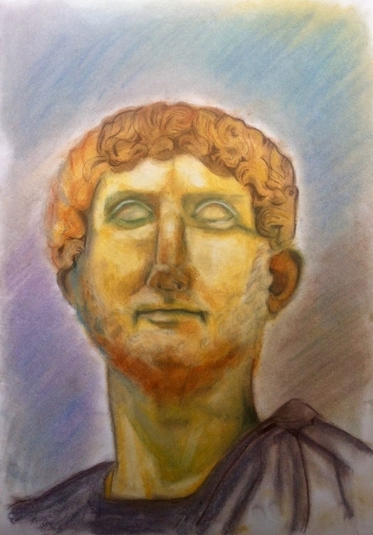 Hadrian, Soft Pastels, A3 - pastels - anastasiac-8446 | ello