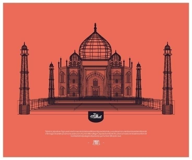 Taj Mahal - tajmahal, linea, estructura - samuelarmas3 | ello