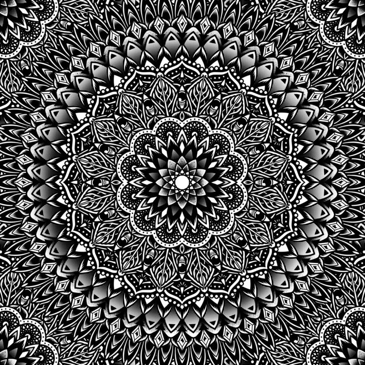 Secret Yantra Mandala - illustration - muledraws | ello