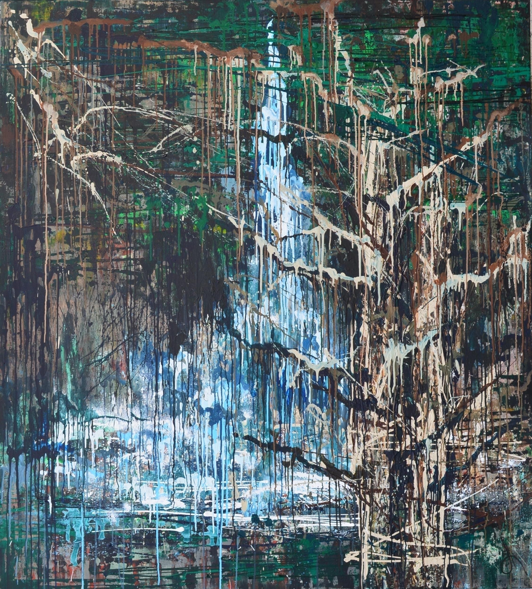Rainy music forest 200x180 Acry - tanya_vasilenko | ello