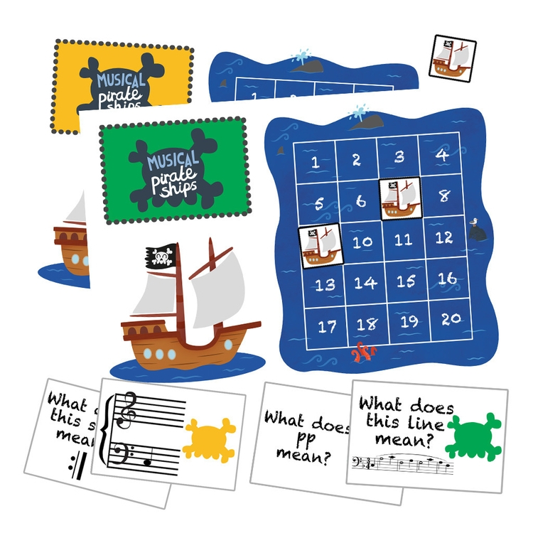 Musical Pirate Ships Game - game - clairestamper | ello