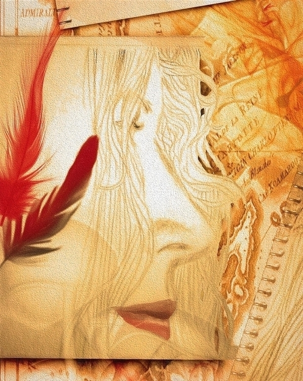 Profile Red Feathers- Detail - illustration - arte-8561 | ello