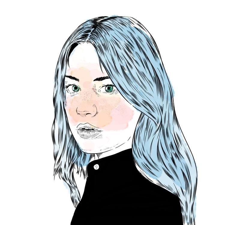 Camille rowe portrait - illustration - pesim0 | ello
