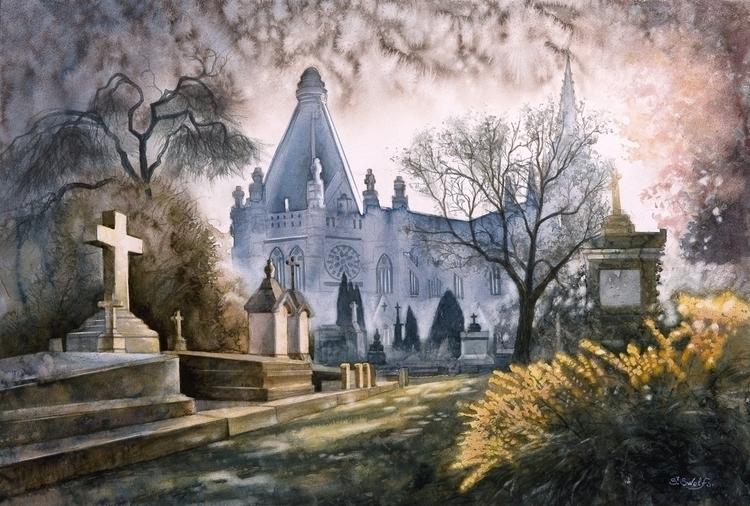 Aquarelle - watercolor 40 cm 60 - swolfs | ello