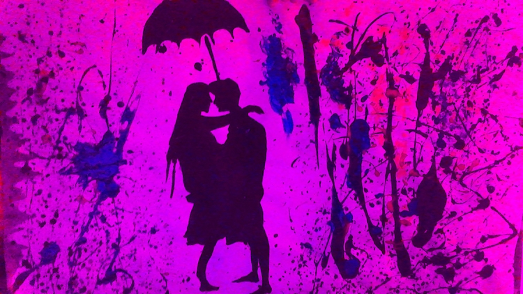 Pink Abstract Couple Love - painting - loveart_wonders | ello